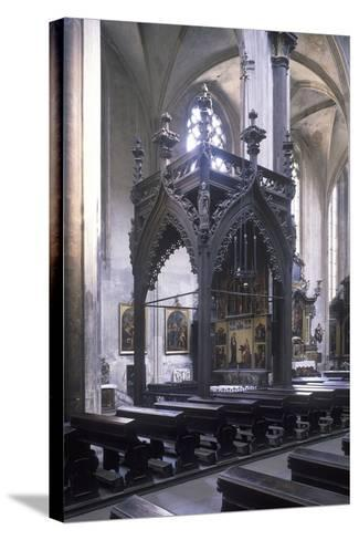 Baldachin by Mat?j Rejsek (1493), Church of Our Lady before T?n, Prague, Czech Republic--Stretched Canvas Print