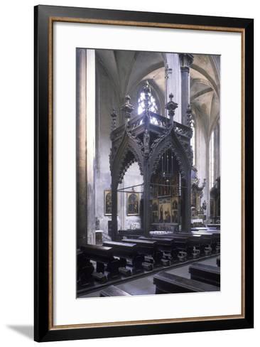 Baldachin by Mat?j Rejsek (1493), Church of Our Lady before T?n, Prague, Czech Republic--Framed Art Print