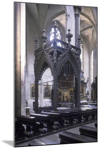 Baldachin by Mat?j Rejsek (1493), Church of Our Lady before T?n, Prague, Czech Republic--Mounted Photographic Print