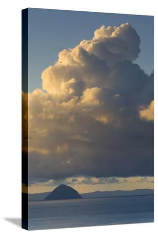 Cumulonimbus Clouds over Sea, Ailsa Craig, Isle of Arran, North Ayrshire, Scotland, Uk--Stretched Canvas Print