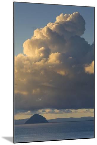 Cumulonimbus Clouds over Sea, Ailsa Craig, Isle of Arran, North Ayrshire, Scotland, Uk--Mounted Photographic Print