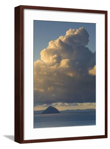 Cumulonimbus Clouds over Sea, Ailsa Craig, Isle of Arran, North Ayrshire, Scotland, Uk--Framed Art Print