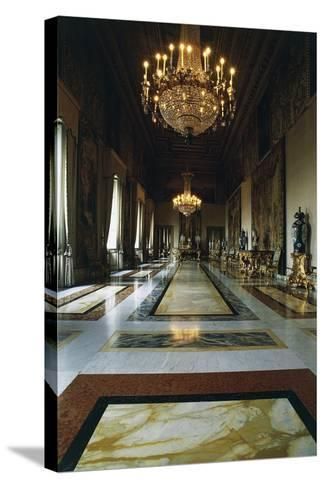 Hall of Augustus (Formerly Throne Room), Quirinal Palace, Rome, Lazio, Italy--Stretched Canvas Print