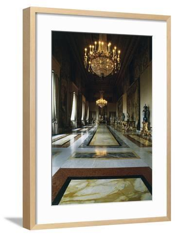 Hall of Augustus (Formerly Throne Room), Quirinal Palace, Rome, Lazio, Italy--Framed Art Print