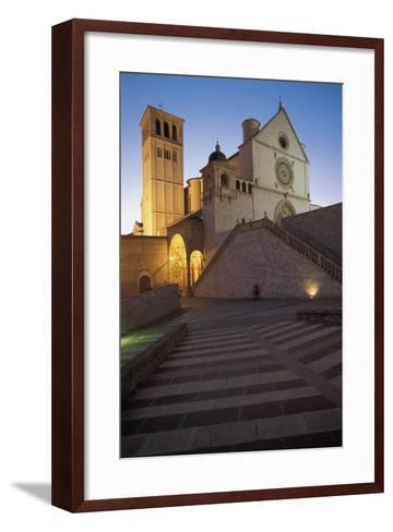 Low Angle View of a Church, Basilica of San Francisco, Assisi, Umbria, Italy--Framed Art Print