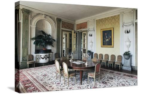Dining Room of Chateau of Craon, 18th Century, Pays De La Loire, France--Stretched Canvas Print