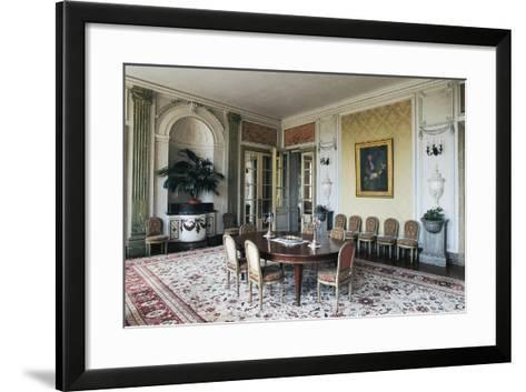 Dining Room of Chateau of Craon, 18th Century, Pays De La Loire, France--Framed Art Print