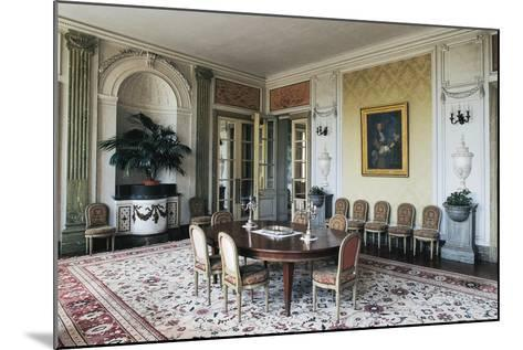 Dining Room of Chateau of Craon, 18th Century, Pays De La Loire, France--Mounted Photographic Print