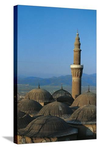 Minaret of Bursa Grand Mosque (Ulu Cami), 15th Century, Bursa, Marmara, Turkey--Stretched Canvas Print