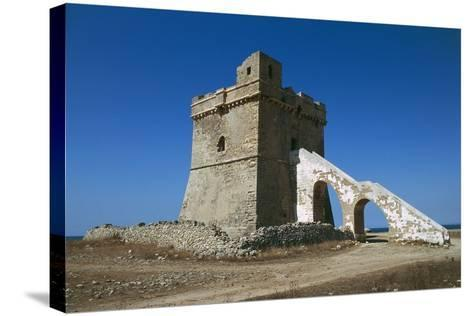 Squillace Tower, 16th Century, Porto Cesareo, Salento Peninsula, Apulia, Italy--Stretched Canvas Print