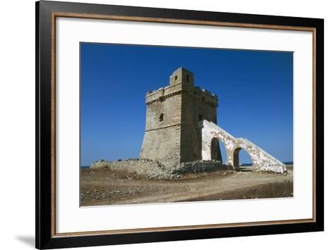 Squillace Tower, 16th Century, Porto Cesareo, Salento Peninsula, Apulia, Italy--Framed Art Print