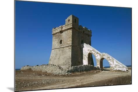 Squillace Tower, 16th Century, Porto Cesareo, Salento Peninsula, Apulia, Italy--Mounted Photographic Print