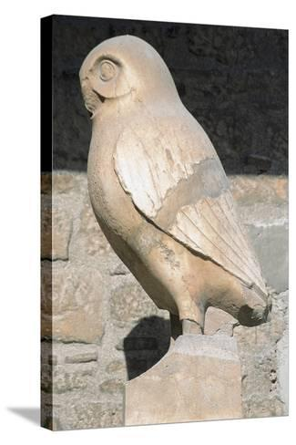 Greek Art. Statue of Owl. Symbol City of Athens. Acropolis Museum. Greece--Stretched Canvas Print