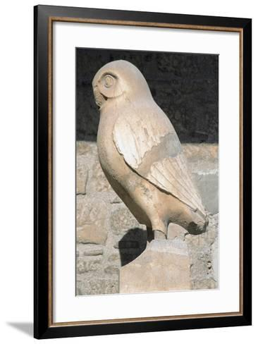 Greek Art. Statue of Owl. Symbol City of Athens. Acropolis Museum. Greece--Framed Art Print