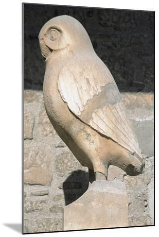Greek Art. Statue of Owl. Symbol City of Athens. Acropolis Museum. Greece--Mounted Photographic Print