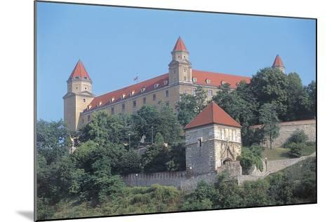 Low Angle View of a Castle on a Hill, Bratislava Castle, Bratislava, Slovakia--Mounted Photographic Print
