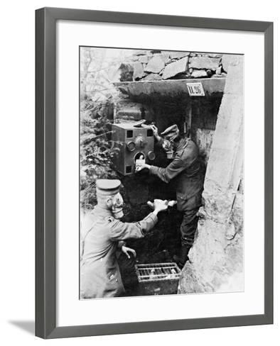 Gas Protection Chamber for Carrier Pigeons Used in German Shelters at the Front, 1917--Framed Art Print