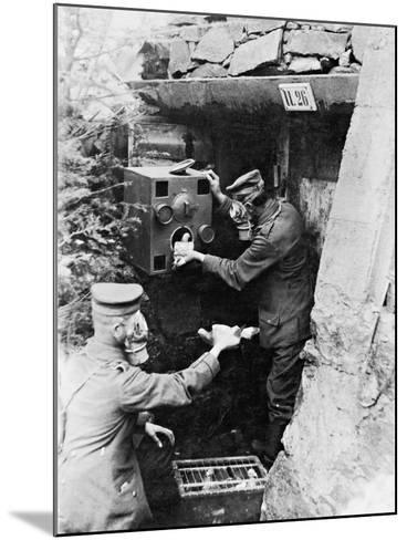 Gas Protection Chamber for Carrier Pigeons Used in German Shelters at the Front, 1917--Mounted Photographic Print
