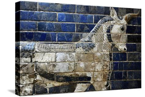 Decoration with Aurochs and Dragons in the Ishtar Gate. 6th Century BC. Babylon--Stretched Canvas Print