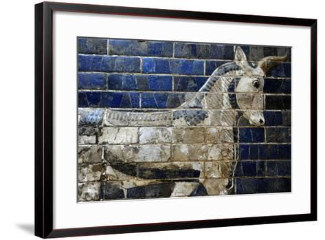 Decoration with Aurochs and Dragons in the Ishtar Gate. 6th Century BC. Babylon--Framed Art Print