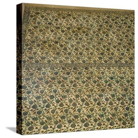 Turkey. Istanbul. Blue Mosque, 16th Century. Ottoman Style. Inside. Tiles. Detail--Stretched Canvas Print