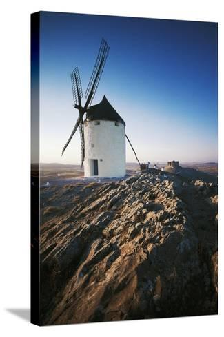 Windmills Along Road of Don Quixote at Consuegra, Castilla-La Mancha, Spain--Stretched Canvas Print