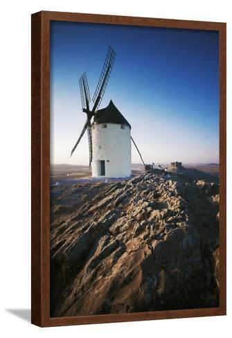 Windmills Along Road of Don Quixote at Consuegra, Castilla-La Mancha, Spain--Framed Art Print