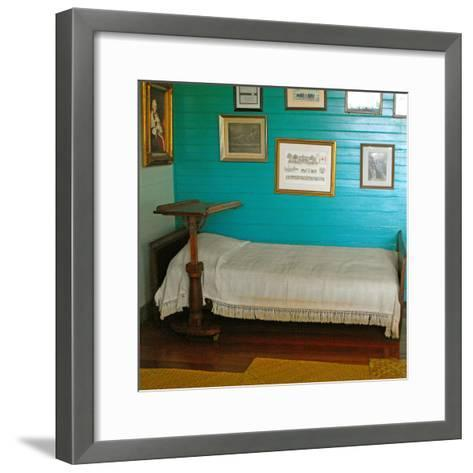 Robert Louis Stevenson's Sickbed with Writing Stand, Villa Vailima, Apia, Samoa--Framed Art Print
