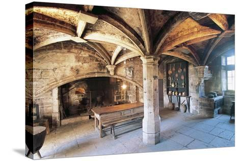 Room with Cross Vault, Chateau Ofs Bories, 16th-17th Century, Aquitaine, France--Stretched Canvas Print