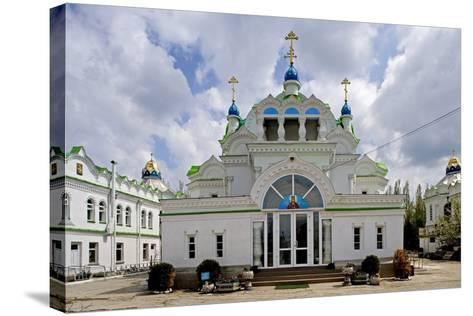 The Facade of the Orthodox Sv Ekaterininskaya Church, Feodosia, Crimea, Ukraine--Stretched Canvas Print