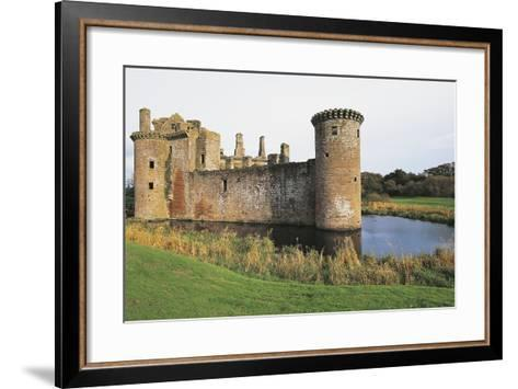 View of Caerlaverock Castle, 13th Century, Dumfries, Scotland, United Kingdom--Framed Art Print