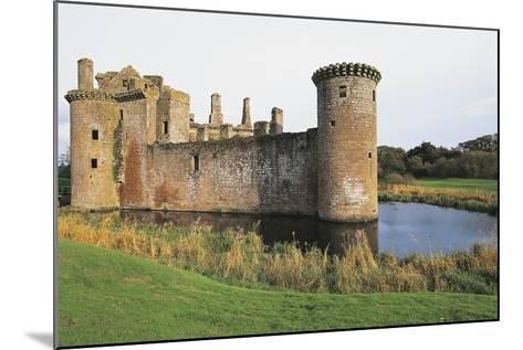 View of Caerlaverock Castle, 13th Century, Dumfries, Scotland, United Kingdom--Mounted Photographic Print