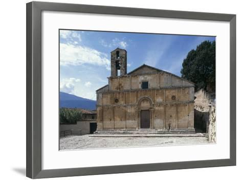 Facade of Church of Santa Giusta, 13th Century, Bazzano, Abruzzo, Italy--Framed Art Print