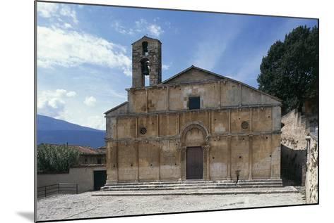 Facade of Church of Santa Giusta, 13th Century, Bazzano, Abruzzo, Italy--Mounted Photographic Print