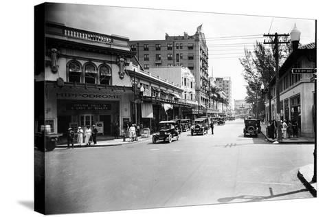 The Hippodrome Theater, on the Left at Ne 2nd Avenue and Flagler Street, 1924--Stretched Canvas Print