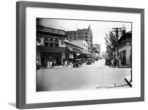 The Hippodrome Theater, on the Left at Ne 2nd Avenue and Flagler Street, 1924--Framed Art Print