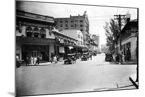 The Hippodrome Theater, on the Left at Ne 2nd Avenue and Flagler Street, 1924--Mounted Photographic Print
