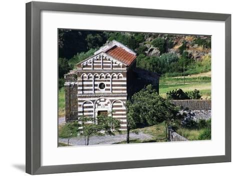 Church of St Peter of Images of Crucifix, 12th Century, Buzi, Sardinia, Italy--Framed Art Print