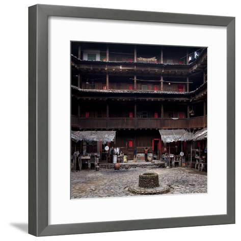 Fujian Tulou (Fortified Earth Building), Tin Shi Lou, Meilin, Fujian Province, China--Framed Art Print