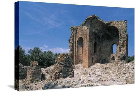 Low Angle View of a Ruined Building, Roccelletta Di Borgia, Calabria, Italy--Stretched Canvas Print