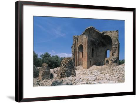 Low Angle View of a Ruined Building, Roccelletta Di Borgia, Calabria, Italy--Framed Art Print