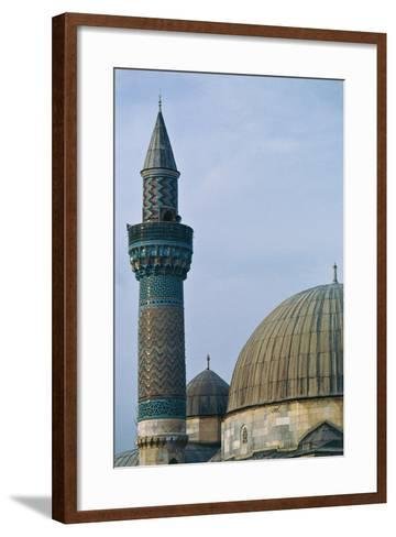 Detail of Dome and Minaret of Green Mosque (Yesil Cami), 1378-1387, Iznik, Turkey--Framed Art Print