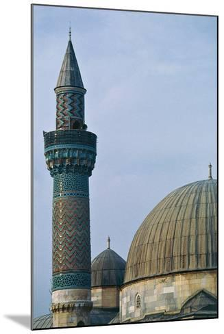 Detail of Dome and Minaret of Green Mosque (Yesil Cami), 1378-1387, Iznik, Turkey--Mounted Photographic Print