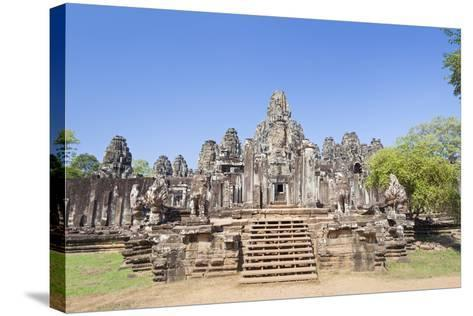 The South Side of the Bayon Temple, Angkor Thom, Angkor, Siem Reap, Cambodia--Stretched Canvas Print