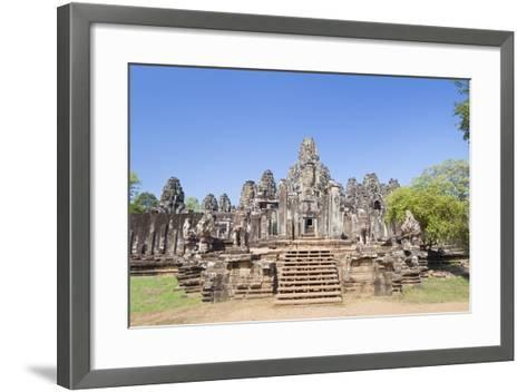 The South Side of the Bayon Temple, Angkor Thom, Angkor, Siem Reap, Cambodia--Framed Art Print