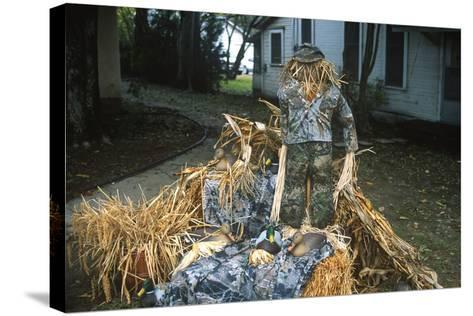 Duck Decoys, Scarecrow, Wings over the Prairie Festival, Stuttgart, Arkansas--Stretched Canvas Print