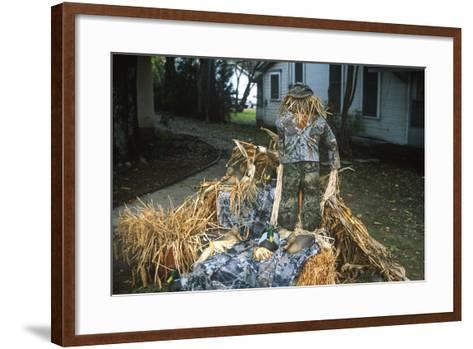 Duck Decoys, Scarecrow, Wings over the Prairie Festival, Stuttgart, Arkansas--Framed Art Print