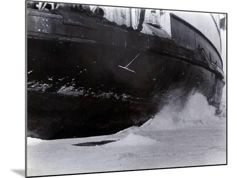 Detail of the Hull of the Ice-Breaking Train Ferry Steamer 'Ss Baikal', Lake Baikal--Mounted Photographic Print