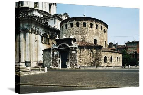 Old Cathedral (Duomo Vecchio) or Rotunda, 9th Century, Brescia, Lombardy, Italy--Stretched Canvas Print