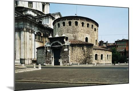 Old Cathedral (Duomo Vecchio) or Rotunda, 9th Century, Brescia, Lombardy, Italy--Mounted Photographic Print